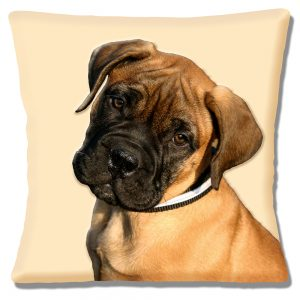 Bullmastiff Puppy Dog Cushion or Cushion Cover Cream