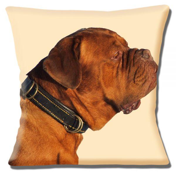 Bullmastiff Dog Cushion or Cushion Cover Cream Adult Brown