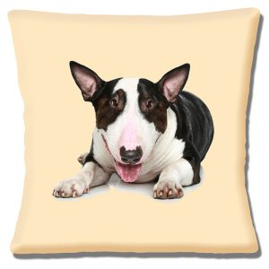 Bull Terrier Dog Cushion or Cushion Cover Adult Brindle White