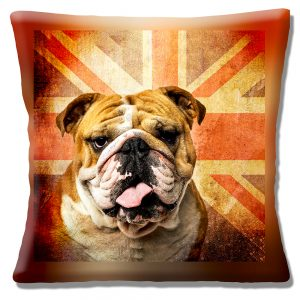 British Bulldog Cushion or Cushion Cover Vintage Retro Union Jack