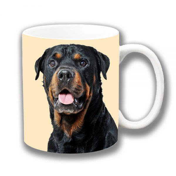 Adult Rottweiler Dog Coffee Mug Black Tan Dog Ceramic