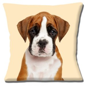Boxer Puppy Dog Cushion or Cushion Cover Tan White Cream