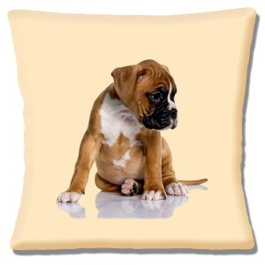 Boxer Puppy Dog Cushion or Cushion Cover Cute Chubby Pup