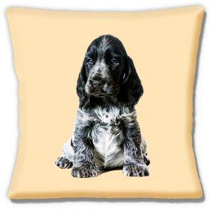 Cocker Spaniel Puppy Dog Cushion or Cushion Cover Cream