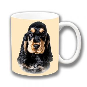 Cocker Spaniel Dog Coffee Mug Black Ruby Tan Cream