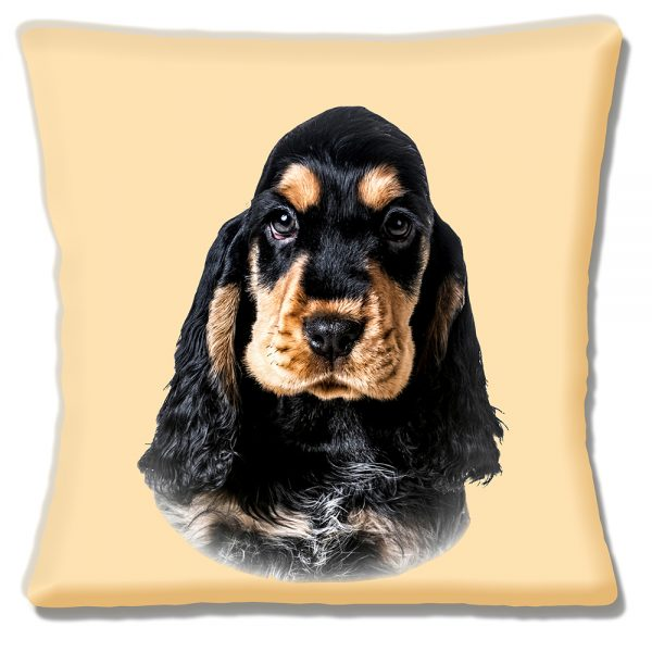 Cocker Spaniel Cushion or Cushion Cover Black Ruby Tan Cream