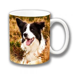 Border Collie Coffee Mug Sheepdog in Heather Ceramic