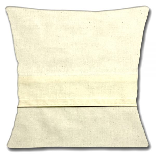 Cream Cotton calico envelope closure back