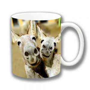 Donkey Mules Coffee Mug Pulling Funny Faces Ceramic