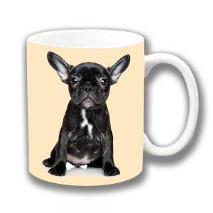 French Bulldog Puppy Coffee Mug Black Brindle Cream
