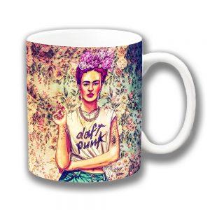 Frida Kahlo Coffee Mug Daft Punk Fab Ciraolo