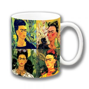 Frida Kahlo Coffee Mug Mexican Folklore Artist Collage