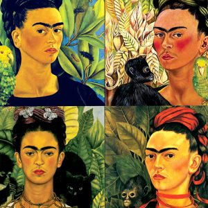 Frida Kahlo Cushion or Cushion Cover Mexican Folklore Artist Collage