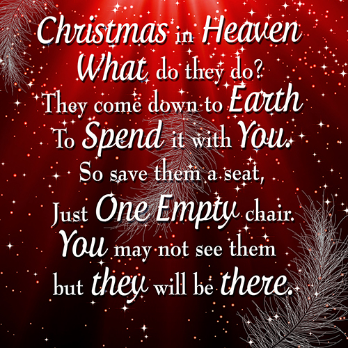 Christmas In Heaven.Christmas In Heaven Message Cushion Or Cushion Cover Red