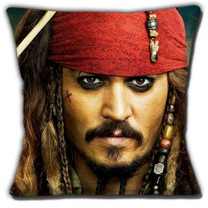 Captain Jack Sparrow Cushion or Cushion Cover Pirates of the Caribbean