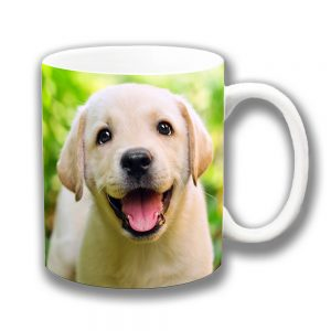 Labrador Puppy Dog Coffee Mug Cute Yellow Lab