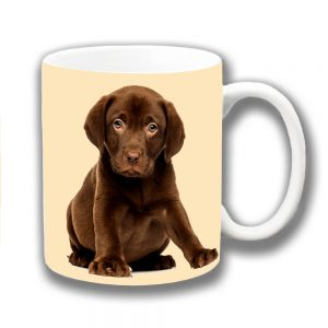 Chocolate Labrador Puppy Dog Coffee Mug Chubby Pup