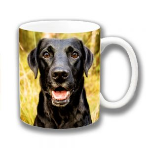 Black Labrador Dog Coffee Mug Young Lab Outdoors