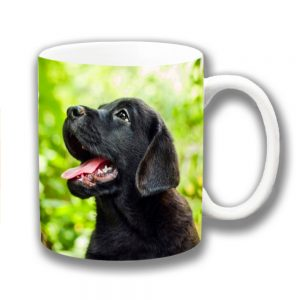 Labrador Puppy Dog Coffee Mug Black Lab Pup Outdoors