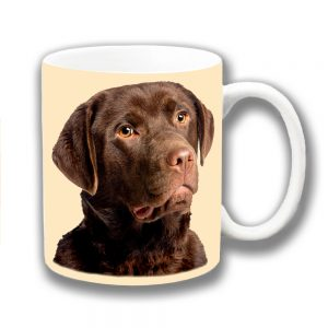 Labrador Dog Coffee Mug Young Chocolate Lab Photo
