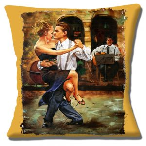 Latin American Salsa Dancing Cushion or Cushion Cover