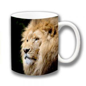 Lion Coffee Mug Wildlife Animal Male King of the Jungle