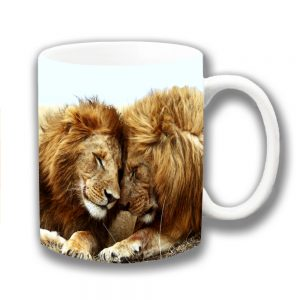Lions Coffee Mug Animal King of the Jungle Father Son