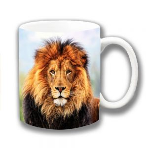 Lion Coffee Mug Wild Animal King of the Jungle Male