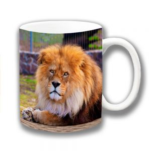 Lion Coffee Mug Wild Animal Male King of the Jungle Resting