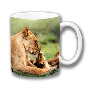 Lions Coffee Mug Animals King of the Jungle Mum Cub