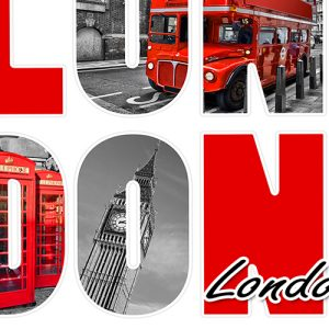 London Icons Cushion or Cushion Cover Big Ben Red Bus Telephone Box