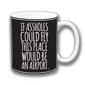 If Assholes Could Fly Coffee Mug Funny Message