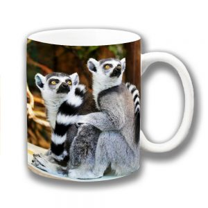 Ring-Tailed Lemurs Coffee Mug Wild Animal Madagascar