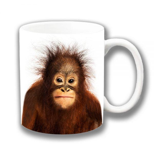 Baby Orangutan Coffee Mug Wild Animal Ceramic