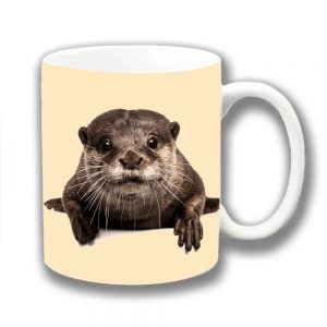 Cute Otter Coffee Mug Wild Animal Pup Ceramic Cream