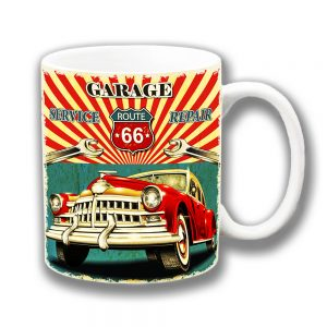 Route 66 Coffee Mug Garage Service Repair Vintage Retro