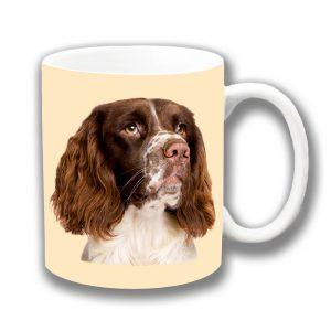 English Springer Spaniel Coffee Mug Liver White Cream