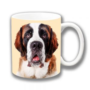 Saint Bernard Dog Coffee Mug Rescue Dog Cream