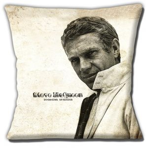 Steve McQueen Cushion or Cushion Cover American Actor Sepia