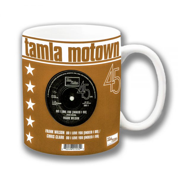 Tamla Motown Coffee Mug Brown 45 rpm Record Cover
