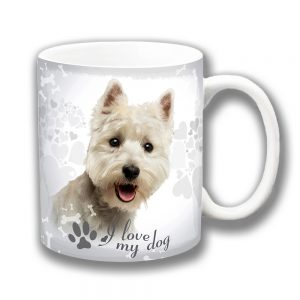 West Highland Coffee Mug I Love My Dog Paw Print Westie