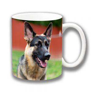 German Shepherd Dog Coffee Mug Black Tan Alsation Ceramic