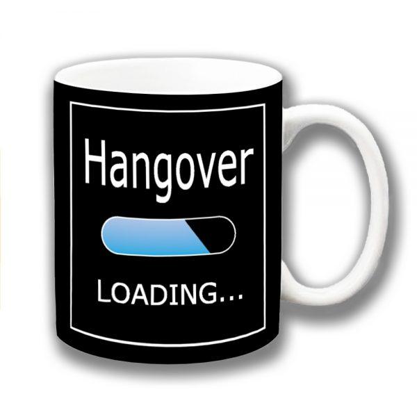 Hangover Coffee Mug Funny Message Lozenge Loading