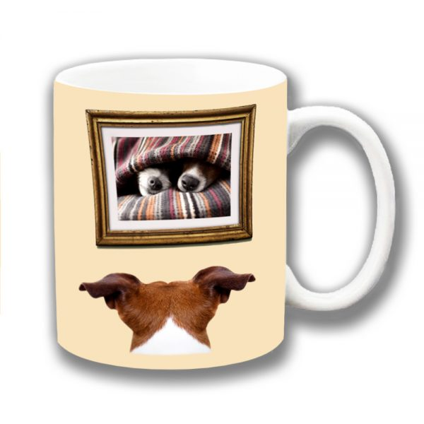 Jack Russell Coffee Mug Lost Love Framed Picture Ceramic
