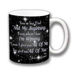 John Legend Coffee Mug All of Me Song Lyrics Chorus