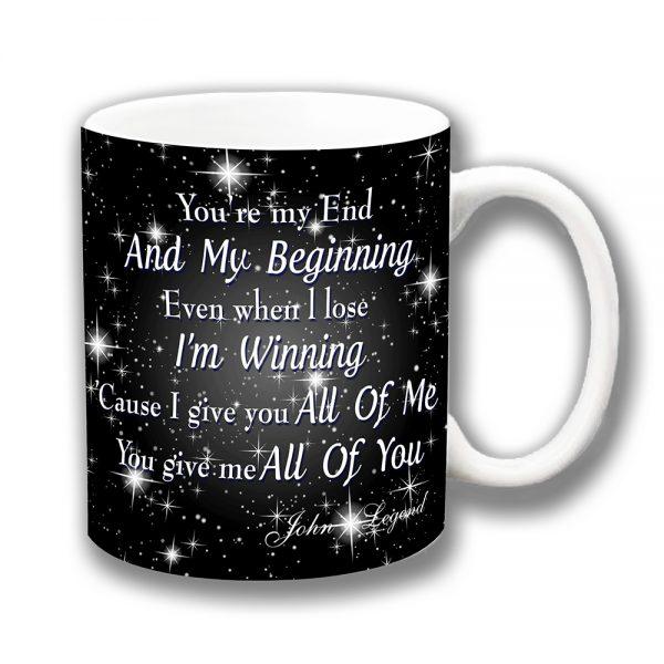 John Legend Coffee Mug All of Me Song Lyrics Chorus