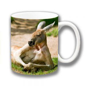 Kangaroo Coffee Mug Funny Wild Australian Animal Resting