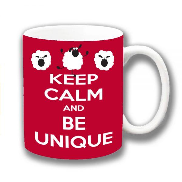 Keep Calm Coffee Mug Funny Message Be Unique Sheep