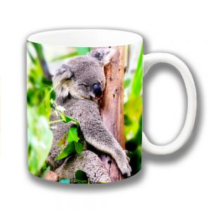 Koala Coffee Mug Australian Wild Animal Sleepy Tree