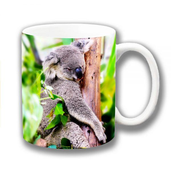 Koala Coffee Mug Australian Wild Animal Sleepy Tree
